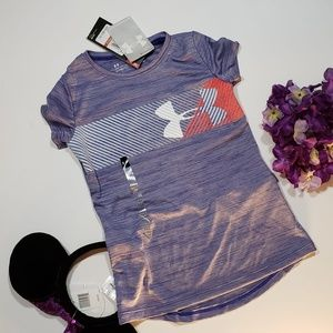 Under Armour Girls Purple Dry Fit Blouse, New